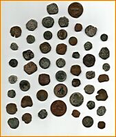 BIG LOT OF 51 ANCIENT COINS OF DIFFERENT EPOCAS MEDIEVAL  XV