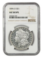 1896-O $1 NGC AU58 DMPL - BETTER DATE FROM NEW ORLEANS - MORGAN SILVER DOLLAR