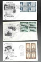 US FDC FIRST DAY COVERS  COLLECTION   LOT OF 12  WITH  BLOCK