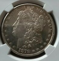 1878-S MORGAN DOLLAR NGC MINT STATE 62 NO DESIGNATION BUT SEMI PROOF LIKE COIN