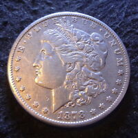 1878-CC MORGAN SILVER DOLLAR - SOLID EXTRA FINE  DETAILS FIRST-YEAR FROM CARSON CITY MINT