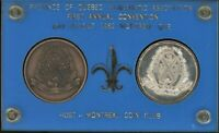 PAIR OF 1962 PROVINCE OF QUEBEC NUMISMATIC ASSOC. MEDALS   1ST ANNUAL CONVENTION