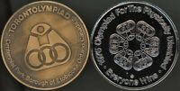 PAIR OF 1976 OLYMPICS FOR THE PHYSICALLY DISABLED HELD IN ETOBICOKE  TORONTO