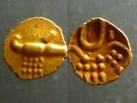 GOLD FANAM OF THE RAJAHS OF COACHIN INDIA______STYLIZED BOAR