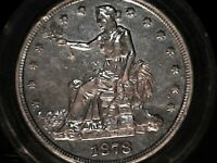 1878 S SILVER TRADE DOLLAR EXTREMELY PRETTY  SILVER COIN