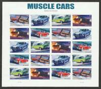 US 4743 4747B MNH MUSCLE CARS IMPERF PANE OF 20 IN CLEAR ARC