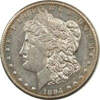 1894-S MORGAN DOLLAR - DECENT EXAMPLE W/ MINOR ISSUE. STRONG DETAILS