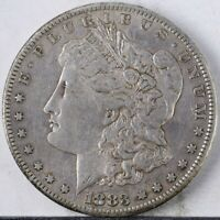 1883 S MORGAN DOLLAR EXTRA FINE  LIGHTLY CLEANED