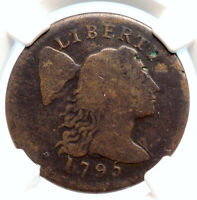 1795 UNITED STATES US VINTAGE ANTIQUE OLD LIBERTY CAP CENT COIN NGC I95553