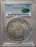 1895-S $1 MORGAN SILVER DOLLAR PCGS AU55  SHIPS FREE IN THE US