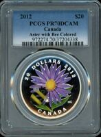 2012 $20 PCGS PR70DCAM   ASTER WITH BUMBLE BEE