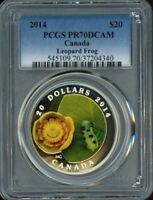 2014 $20 PCGS PR70DCAM   WATER LILY AND LEOPARD FROG