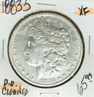1883-S MORGAN SILVER DOLLAR  EXTRA FINE   CLEANED  COIN REF D/D