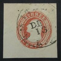 NYSTAMPS US CUT SQUARE STAMP  U3 USED     S10X1266
