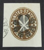 NYSTAMPS US CUT SQUARE STAMP  U60 USED     S10X1270