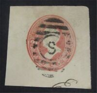 NYSTAMPS US CUT SQUARE STAMP  U149 USED     S10X1276