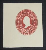NYSTAMPS US CUT SQUARE STAMP  U362A MINT H     S10X1288