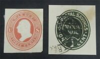 NYSTAMPS US CUT SQUARE STAMP  UO51.UO70 MINT H / USED     S1