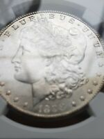 1898 O MORGAN SILVER DOLLAR NGC MINT STATE 64 GOLD TONED REVERSE