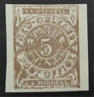 NYSTAMPS US CSA CONFEDERATE STAMP  62X3 MINT $300   S10X1550