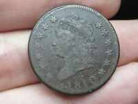 1810 CLASSIC HEAD LARGE CENT PENNY- VF/EXTRA FINE  DETAILS