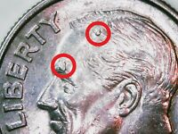 2007 DIME   MULTIPLE DIE CHIPS ON HEAD AND FACE