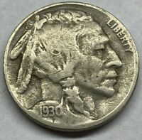 1930 S BUFFALO NICKEL FULL READABLE VISIBLE DATE