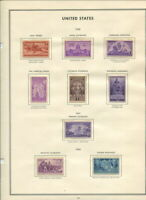 MNH US ON ALBUM PAGE 1940 1949 IN MOUNTS