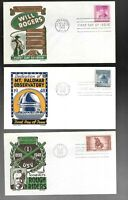 US FDC FIRST DAY COVERS  COLLECTION    LOT OF 12  BY KEN BOL