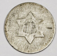 1852 THREE CENT SILVER.  CIRCULATED.  164992