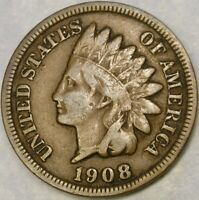 1908 S INDIAN HEAD CENT/PENNY APPEALING CIRCULATED FEATURES