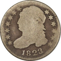 1823/2 CAPPED BUST DIME - CIRCULATED