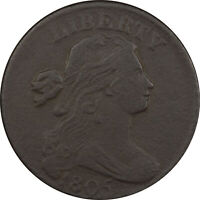 1805 DRAPED BUST LARGE CENT - HIGH GRADE EXAMPLE, BUT POROUS