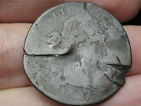1797 DRAPED BUST LARGE CENT PENNY- STEMLESS,