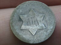 1853 THREE 3 CENT SILVER TRIME- GOOD DETAILS