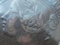 WOW  .99  1858 CANADA VICTORIA ONE CENT   NEAR EF   DIE ROTATION