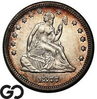 1877 SEATED LIBERTY QUARTER CHOICE AU  /UNC COLLECTOR TYPE COIN
