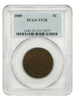 1800 1C PCGS VF20 - DRAPED BUST LARGE CENTS 1796-1807