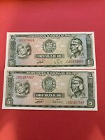 PERU 5 SOLES 1974 BANKNOTE WORLD PAPER MONEY UNC CURRENCY BILL NOTE LOT