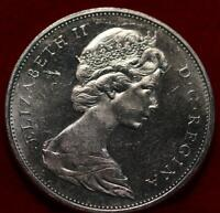 UNCIRCULATED 1965 CANADA SILVER ONE DOLLAR FOREIGN COIN