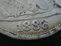1886 P SEATED LIBERTY SILVER DIME- VF/EXTRA FINE  DETAILS- RPD, REPUNCHED DATE