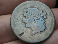 1839 BOOBY HEAD LARGE CENT PENNY- GOOD DETAILS