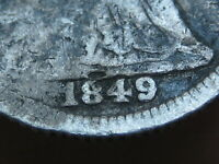 1849 SEATED LIBERTY HALF DIME- NORMAL DATE