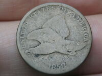 1858 FLYING EAGLE PENNY CENT- SMALL LETTERS, GOOD/VG DETAILS