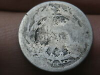 1876 CC SEATED LIBERTY SILVER DIME-  CARSON CITY, ABOUT GOOD DETAILS