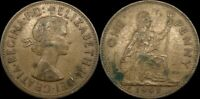 1963 GREAT BRITAIN PENNY UK LARGE PENNY