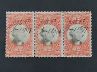 NYSTAMPS US REVENUE STAMP R145 3RD LARGEST STRIP RECORDED 1/