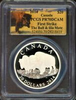 2014 $20 PCGS PR70DCAM   BISON   BULL AND HIS MATE