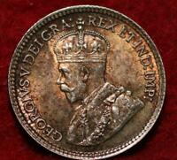 UNCIRCULATED TONED 1918 CANADA 5 CENTS SILVER FOREIGN COIN