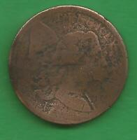 1794 LIBERTY CAP LETTERED EDGE LARGE CENT REVERSE ROTATED